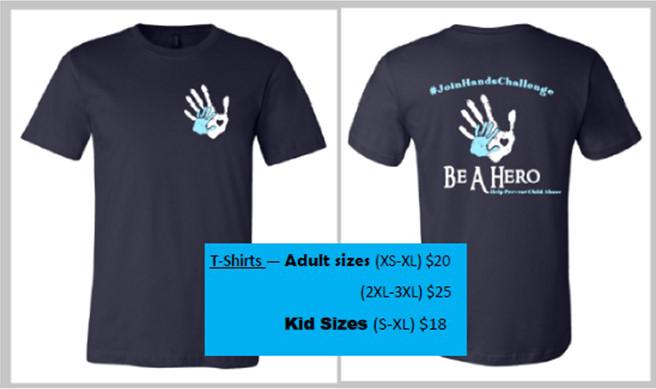 be a hero t-shirt photo